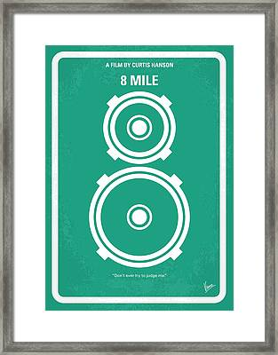 No491 My 8 Mile Minimal Movie Poster Framed Print by Chungkong Art