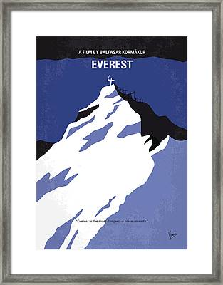 No492 My Everest Minimal Movie Poster Framed Print