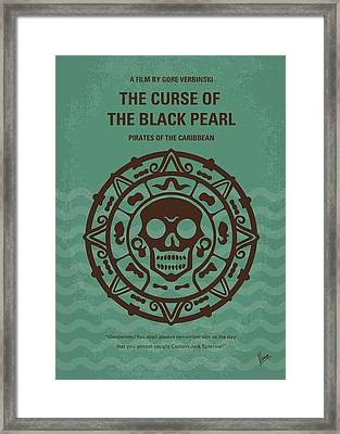 No494-1 My Pirates Of The Caribbean I Minimal Movie Poster Framed Print by Chungkong Art