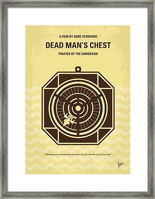 No494-2 My Pirates Of The Caribbean II Minimal Movie Poster Framed Print by Chungkong Art
