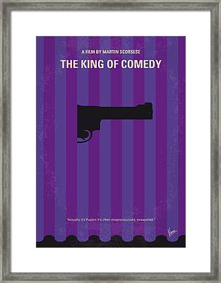 No496 My The King Of Comedy Minimal Movie Poster Framed Print by Chungkong Art