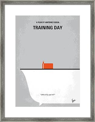 No497 My Training Day Minimal Movie Poster Framed Print