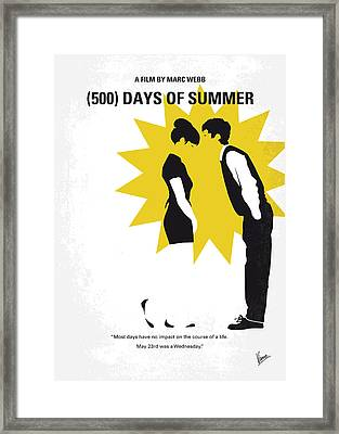 No500 My 500 Days Of Summer Minimal Movie Poster Framed Print by Chungkong Art