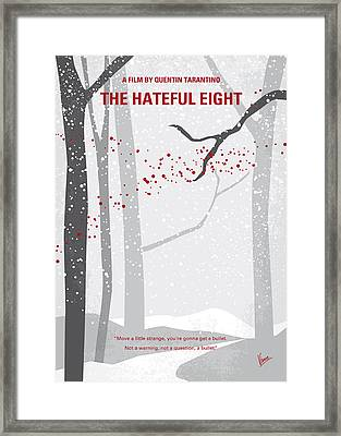 No502 My Hateful Eight Minimal Movie Poster Framed Print by Chungkong Art