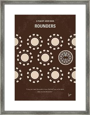 No503 My Rounders Minimal Movie Poster Framed Print