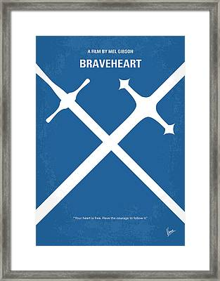 No507 My Braveheart Minimal Movie Poster Framed Print