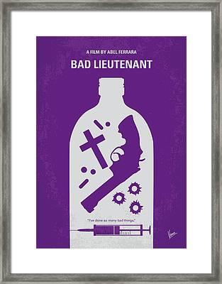 No509 My Bad Lieutenant Minimal Movie Poster Framed Print by Chungkong Art