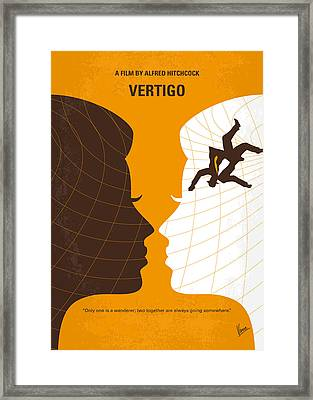 No510 My Vertigo Minimal Movie Poster Framed Print