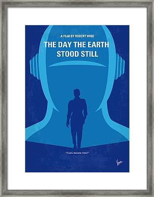 No514 My The Day The Earth Stood Still Minimal Movie Poster Framed Print by Chungkong Art
