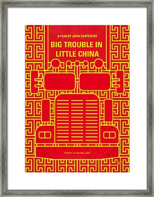 No515 My Big Trouble In Little China Minimal Movie Poster Framed Print by Chungkong Art