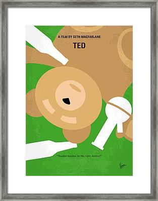 No519 My Ted Minimal Movie Poster Framed Print by Chungkong Art