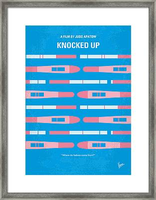 No521 My Knocked Up Minimal Movie Poster Framed Print by Chungkong Art