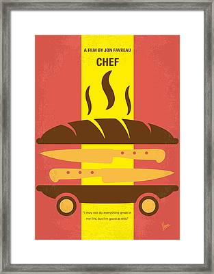 No524 My Chef Minimal Movie Poster Framed Print