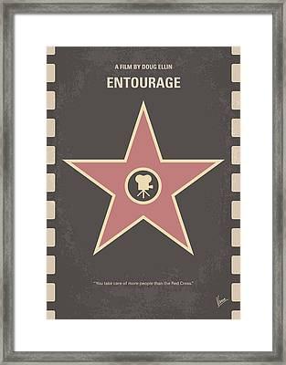 No525 My Entourage Minimal Movie Poster Framed Print by Chungkong Art
