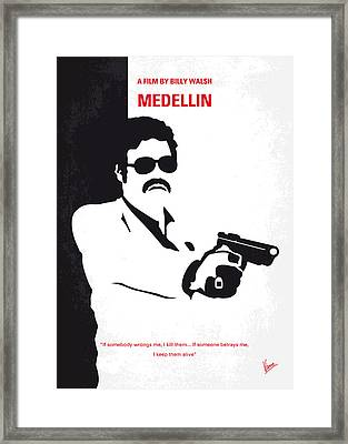 No526 My Medellin Minimal Movie Poster Framed Print