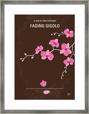 No527 My Fading Gigolo Minimal Movie Poster Framed Print by Chungkong Art