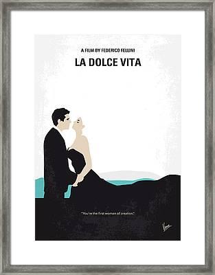 No529 My La Dolce Vita Minimal Movie Poster Framed Print