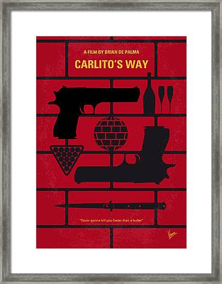 No530 My Carlitos Way Minimal Movie Poster Framed Print by Chungkong Art