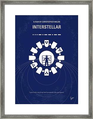No532 My Interstellar Minimal Movie Poster Framed Print