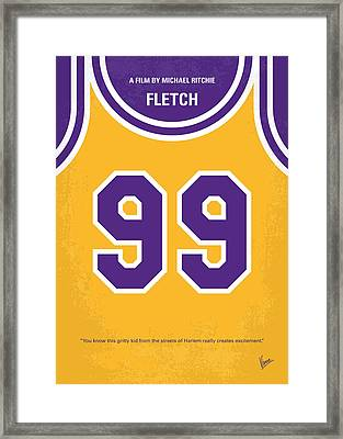 No533 My Fletch Minimal Movie Poster Framed Print