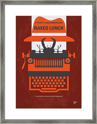 No534 My Naked Lunch Minimal Movie Poster Framed Print by Chungkong Art