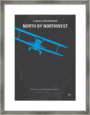 No535 My North By Northwest Minimal Movie Poster Framed Print by Chungkong Art