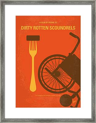 No536 My Dirty Rotten Scoundrels Minimal Movie Poster Framed Print by Chungkong Art