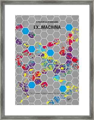 No537 My Ex Machina Minimal Movie Poster Framed Print by Chungkong Art
