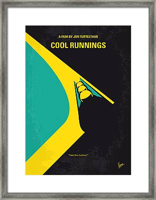 No538 My Cool Runnings Minimal Movie Poster Framed Print