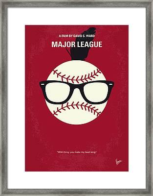 No541 My Major League Minimal Movie Poster Framed Print