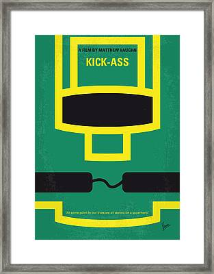 No544 My Kick-ass Minimal Movie Poster Framed Print by Chungkong Art
