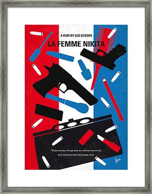 No545 My La Femme Nikita Minimal Movie Poster Framed Print by Chungkong Art
