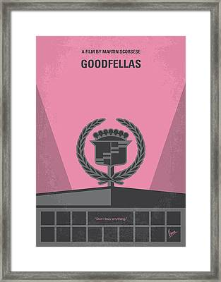 No549 My Goodfellas Minimal Movie Poster Framed Print by Chungkong Art