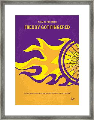 No550 My Freddy Got Fingered Minimal Movie Poster Framed Print by Chungkong Art