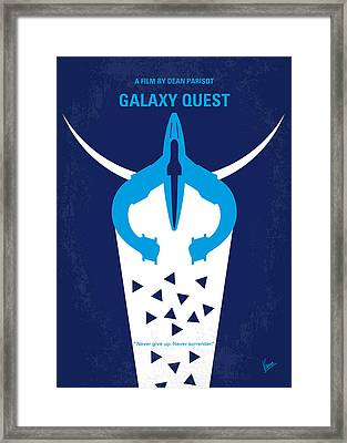 No551 My Galaxy Quest Minimal Movie Poster Framed Print