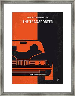 No552 My The Transporter Minimal Movie Poster Framed Print by Chungkong Art
