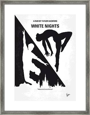 No554 My White Nights Minimal Movie Poster Framed Print