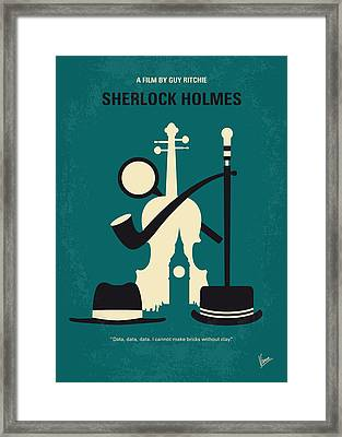 No555 My Sherlock Holmes Minimal Movie Poster Framed Print