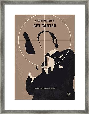 No557 My Get Carter Minimal Movie Poster Framed Print