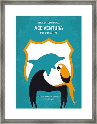 No558 My Ace Ventura Minimal Movie Poster Framed Print