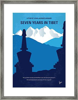 No559 My Seven Years In Tibet Minimal Movie Poster Framed Print by Chungkong Art