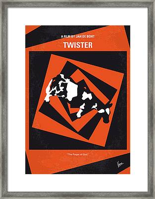 No560 My Twister Minimal Movie Poster Framed Print by Chungkong Art