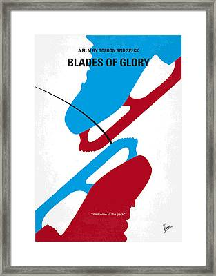 No562 My Blades Of Glory Minimal Movie Poster Framed Print by Chungkong Art