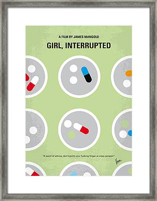 No564 My Girl Interrupted Minimal Movie Poster Framed Print