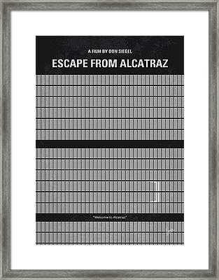 No566 My Escape From Alcatraz Minimal Movie Poster Framed Print