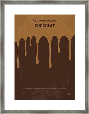 No567 My Chocolat Minimal Movie Poster Framed Print