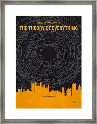 No568 My The Theory Of Everything Minimal Movie Poster Framed Print