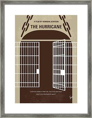 No570 My The Hurricane Minimal Movie Poster Framed Print