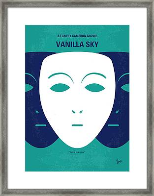 No571 My Vanilla Sky Minimal Movie Poster Framed Print by Chungkong Art