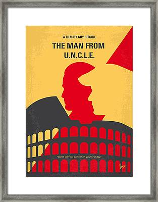 No572 My Man From Uncle Minimal Movie Poster Framed Print by Chungkong Art